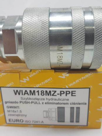 SZYBKOZŁĄCZE GNIAZDO Z ELIMINATOREM CIŚNIENIA M18X1.5 WARYŃSKI ( C2494GW)